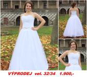 Výprodej - svatební šaty, 34