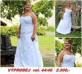 Svatební šaty XL vel. 44 až 46, 46