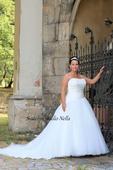 Svatební šaty OK12 pro plnoštíhlé, 44