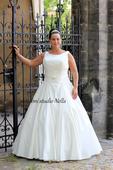 Svatební šaty OK11 pro plnoštíhlé, 46