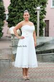 Krátké krajkové svatební šaty , 40