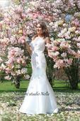 Elegantní svatební šaty s krajkou , 40