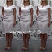 Krátké bílé šaty vel. 38, 38