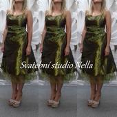 Krátké zelené šaty vel. 40, 40