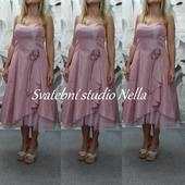 Krátké růžové šaty vel. 38, 38