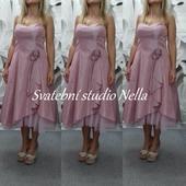 Krátké růžové šaty vel. 42, 42