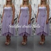 Krátké šaty světle fialové - lila vel. 40, 40