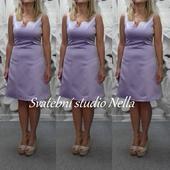 Krátké šaty světle fialové - lila vel. 34, 34