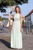 Dlouhé společenské plesové šaty mentolové mint, 34