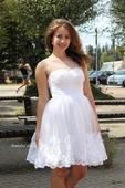 Krátké svatební šaty - popůlnoční s krajkou ,