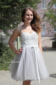 Krátké společenské plesové šaty šedé, 36