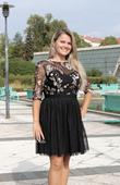 Krátké plesové šaty černé, 40
