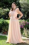 Dlouhé společenské plesové šaty meruňkové, 42