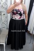 Plesové šaty černé pro plnoštíhlé - velikost 52, 52