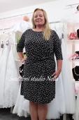 Krátké společenské šaty černé velikost 52, 52