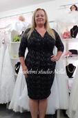 Krátké plesové šaty černé velikost 48, 48