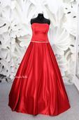 Plesové šaty červené - velikost 34 XS, 34