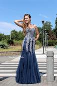 Plesové šaty modré - velikost 36, 36