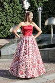 Plesové šaty červené - velikost 38, 38