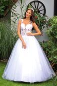Svatební šaty s krajkou vel.32 XXS, 32