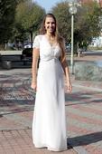 Svatební šaty s krajkou vel. 34, 34