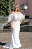 Boho svatební šaty s kanýrem vel. 40, 40
