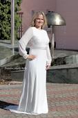 Svatební šaty s krajkou a rukávem vel. 38, 38