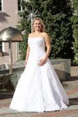 Svatební šaty s krajkou vel. 38, 38
