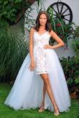 Svatební šaty s krajkou vel. 38, 36