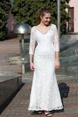Výprodej svatební šaty krajkové vel.36, 36