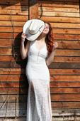 Boho svatební šaty krajkové vel.38, 38
