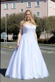Svatební šaty s krajkou vel. 44, 44