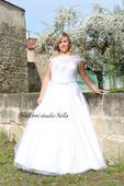 Svatební šaty s krajkou vel. 46, 46