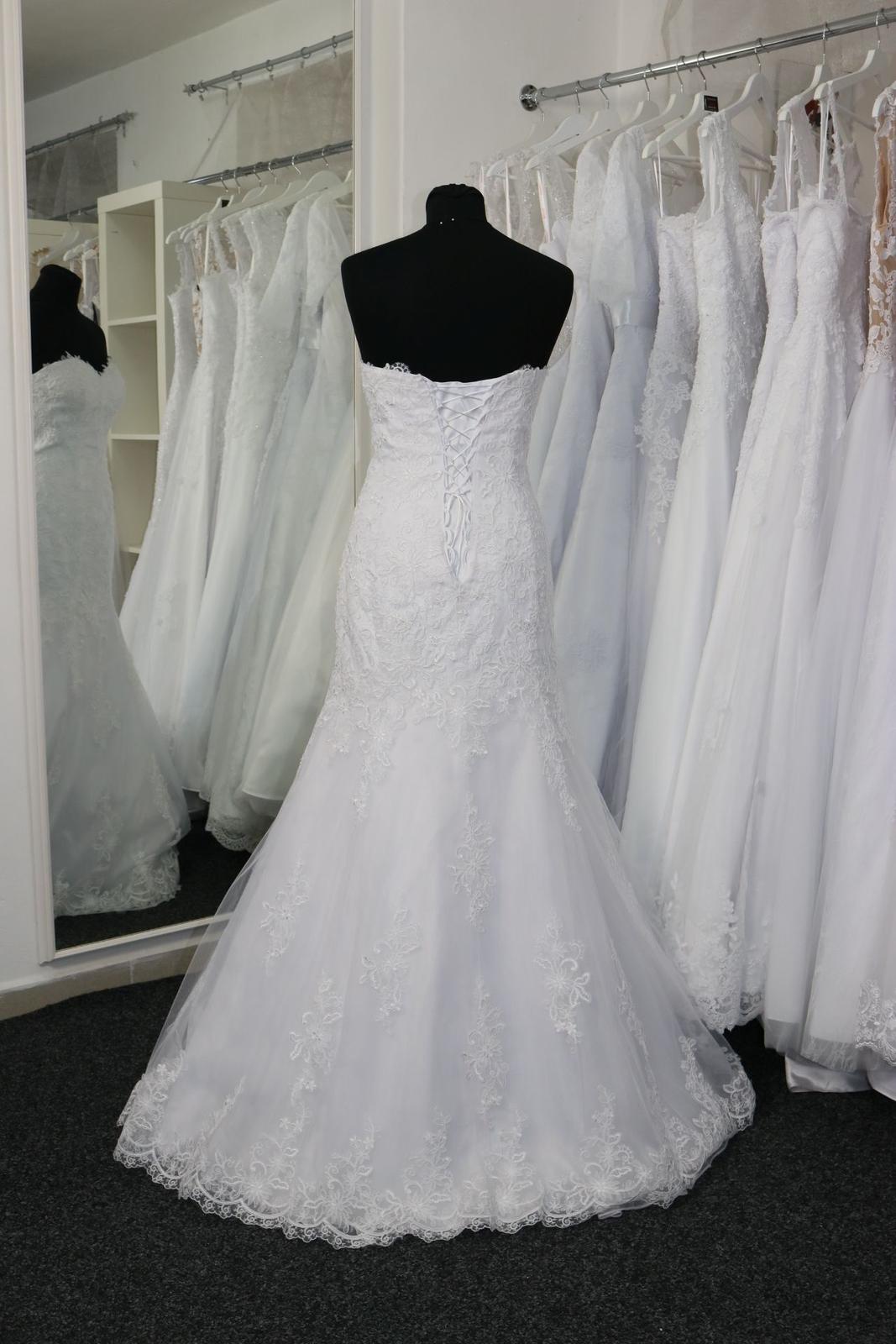 Svatební šaty s krajkou vel.34 XS - Obrázek č. 3