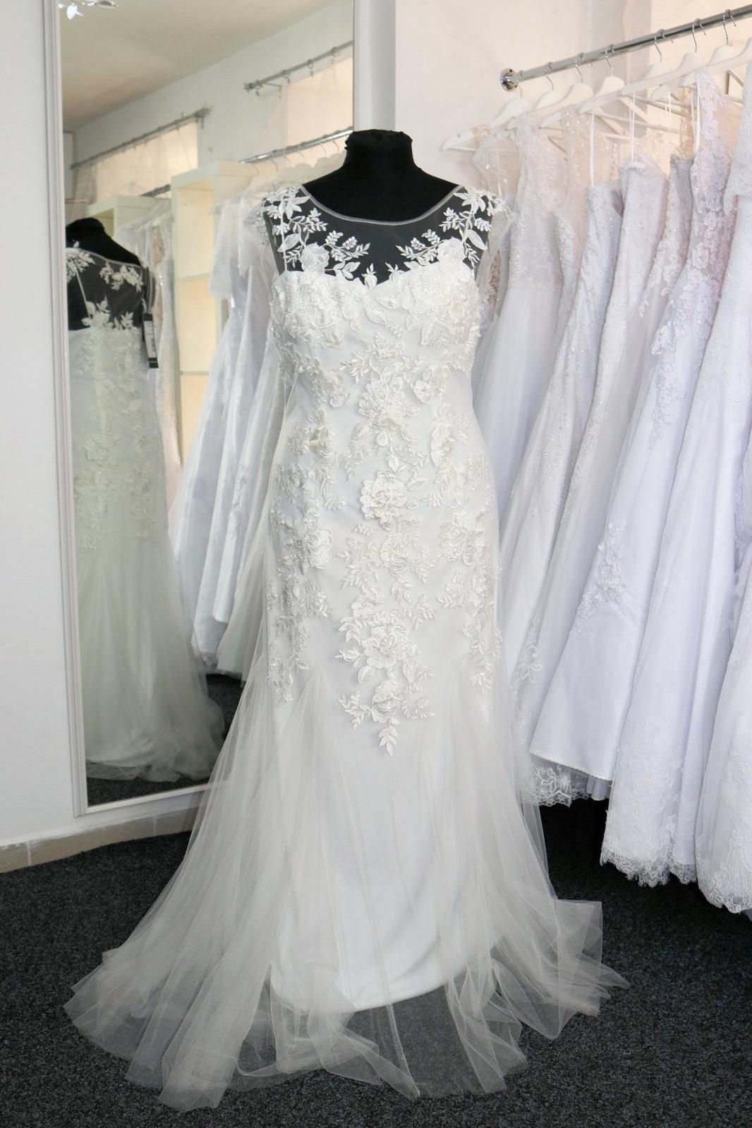 Nové svatební šaty krajkové vel. 46 - Obrázek č. 1