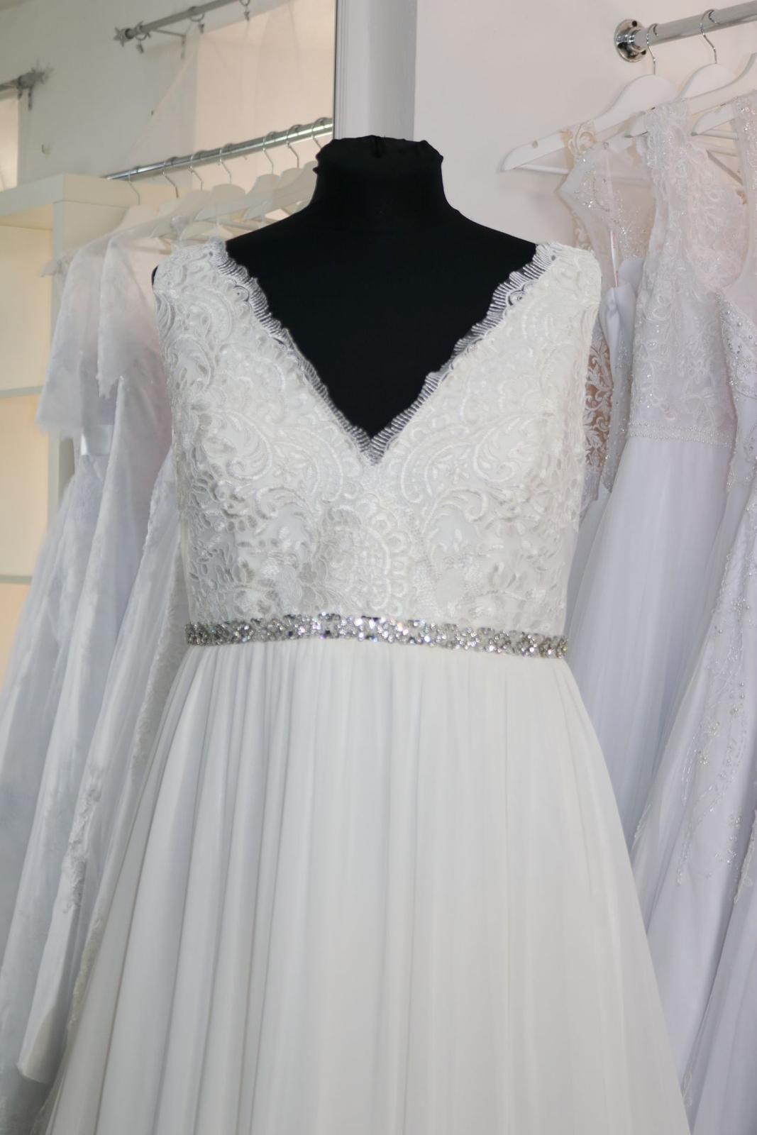 Nové svatební šaty boho vel. 48 - Obrázek č. 2