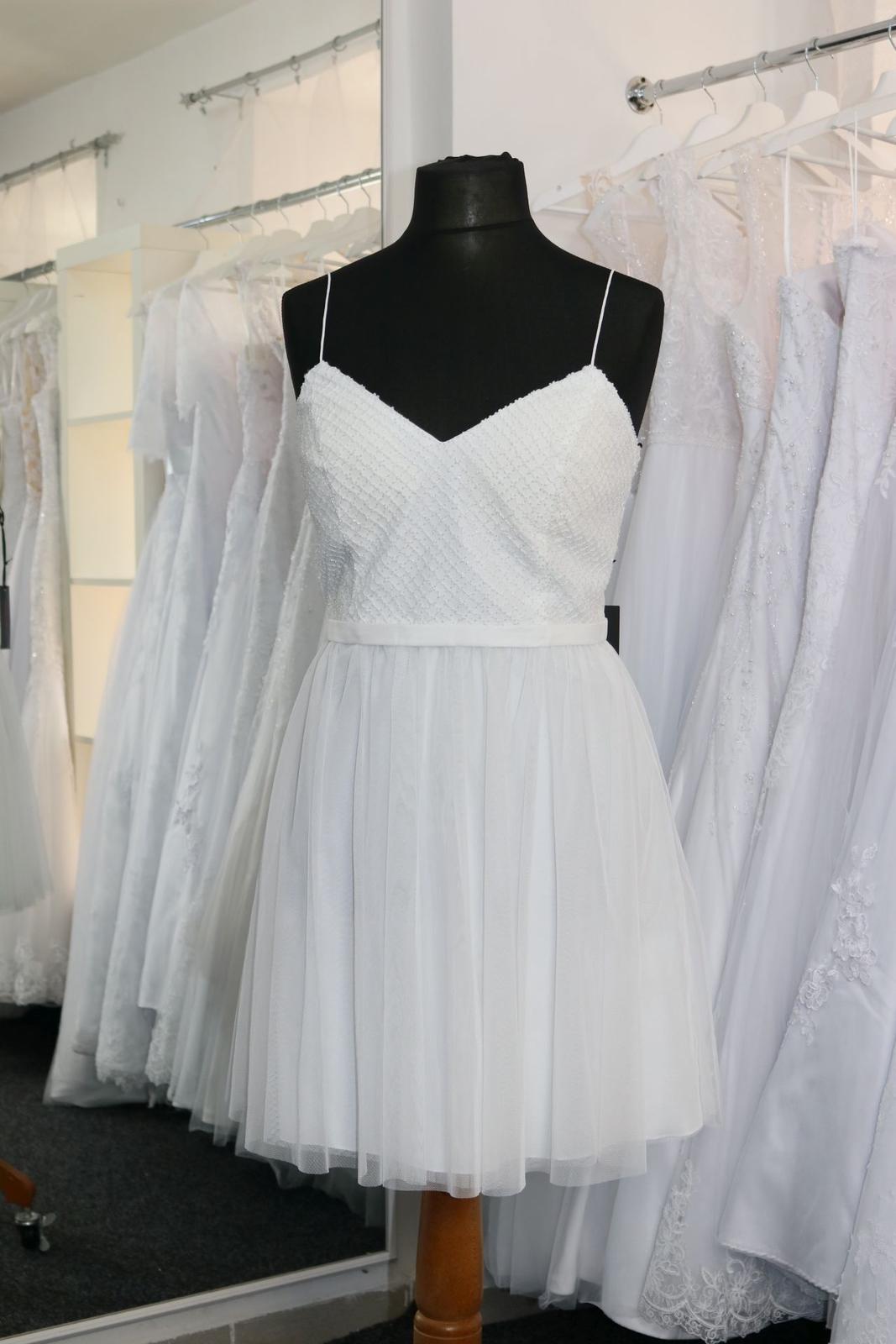 Nové svatební šaty krátké vel. 42 - Obrázek č. 2