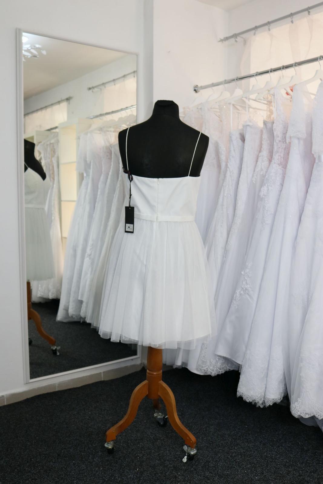 Nové svatební šaty krátké vel. 42 - Obrázek č. 4