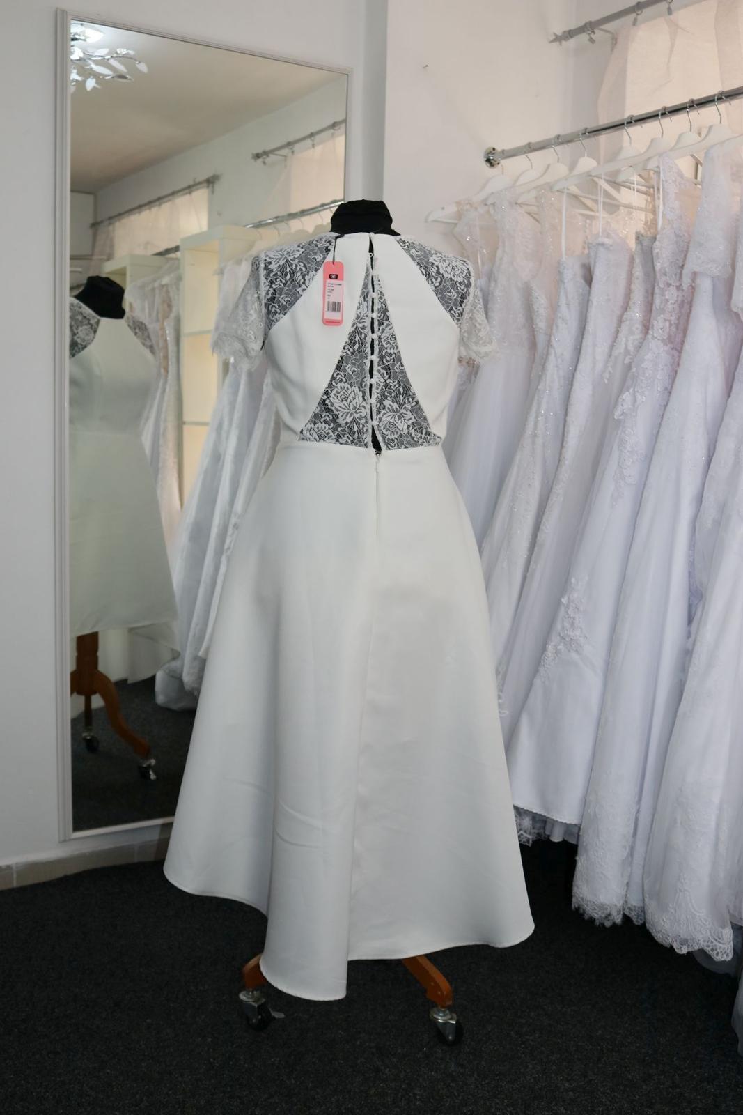 Nové svatební šaty krátké vel. 42 - Obrázek č. 3