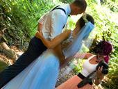 Svatební šaty s vlečkou vel. 34-36, 36