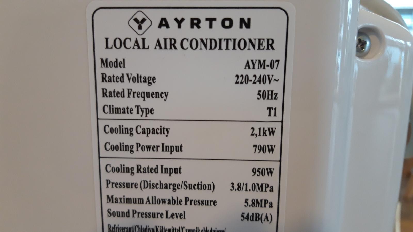 Mobilná klimatizácia AYRTON - Obrázok č. 3