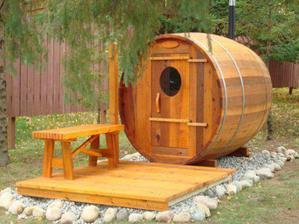 snivam o malej zahradnej saune...