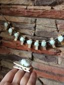 Handmade stipceky s ruzickami, cena za 10 kusov,