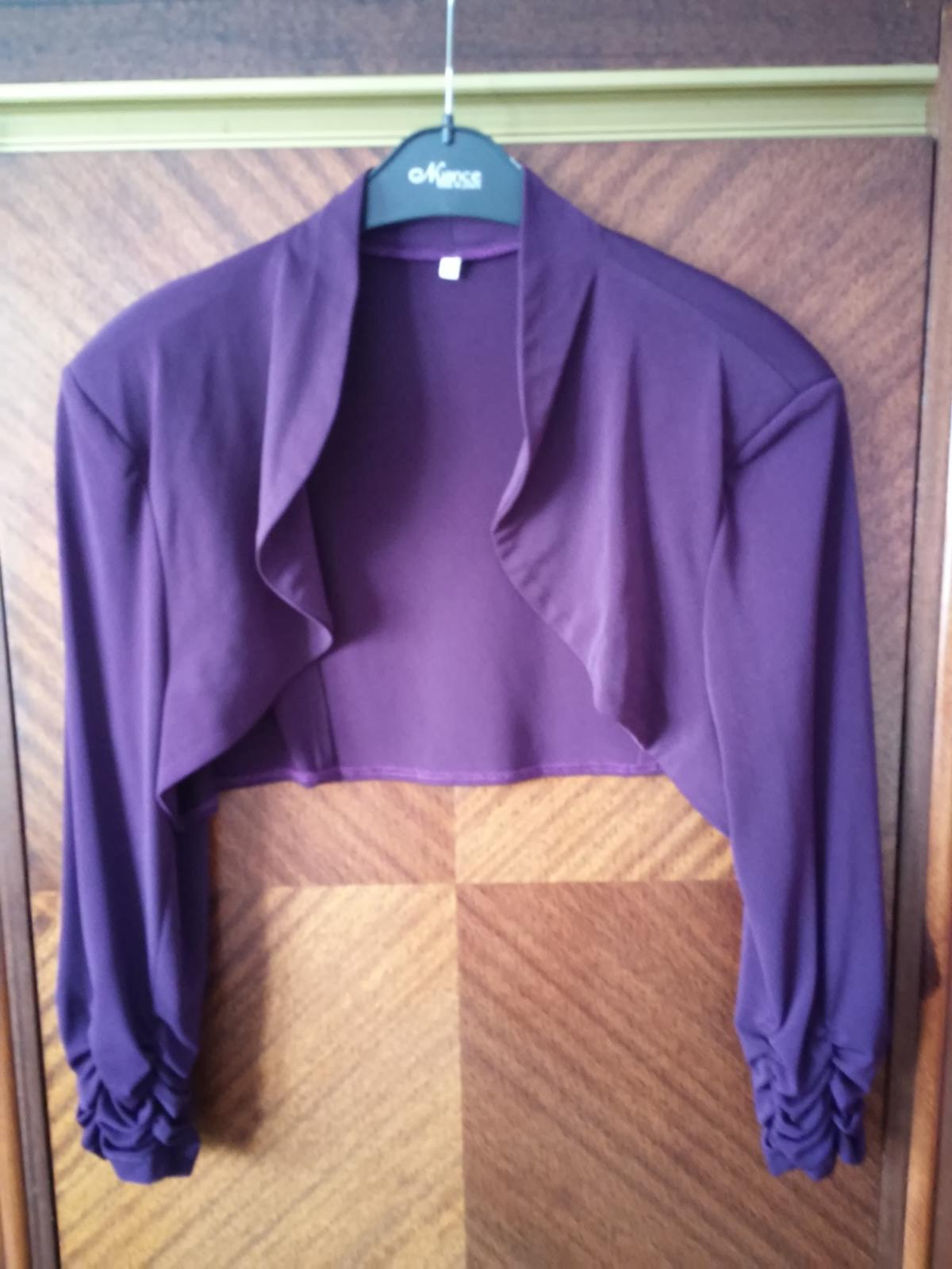 Popolnočné tmavo - fialové spoločenské šaty č.48 - Obrázok č. 3