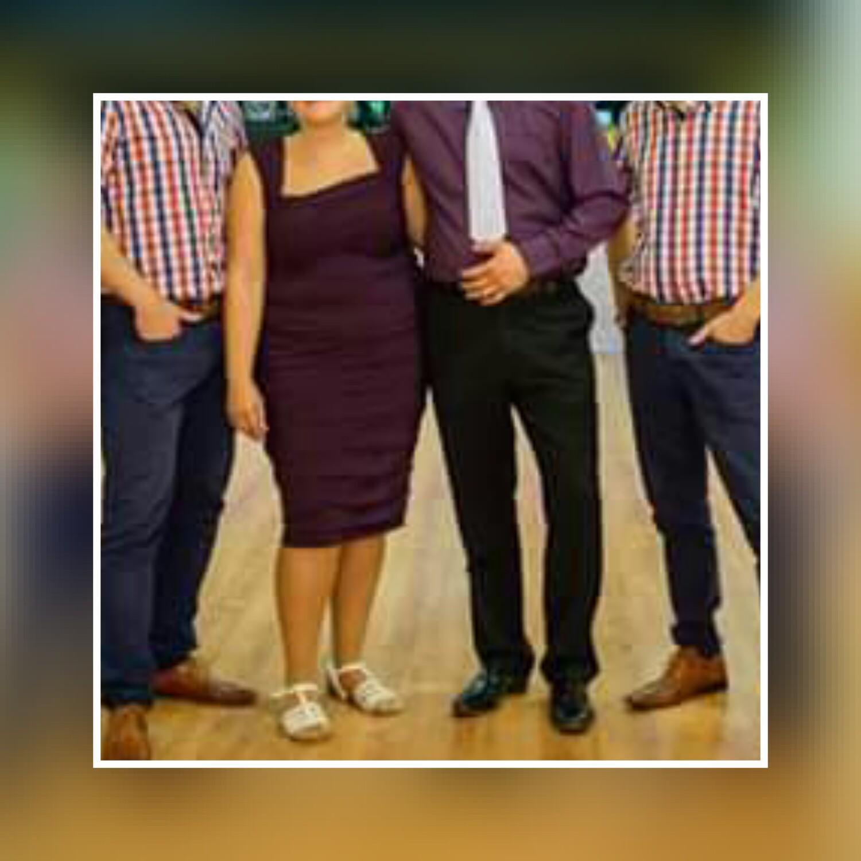 Popolnočné tmavo - fialové spoločenské šaty č.48 - Obrázok č. 4