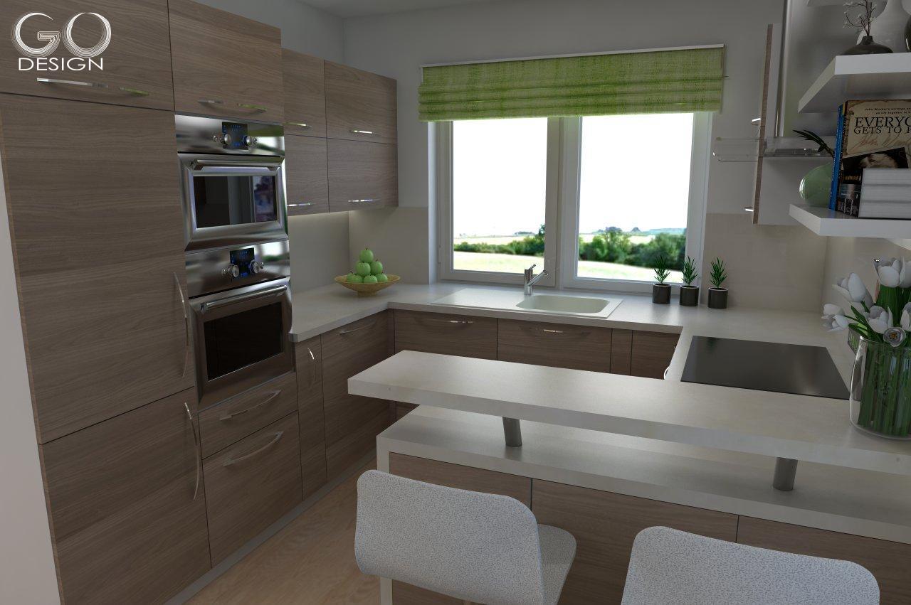 Rodinný domček so sviežim interiérom pre mladý pár - Viničné - Skrinky sú typizované s minimom úprav