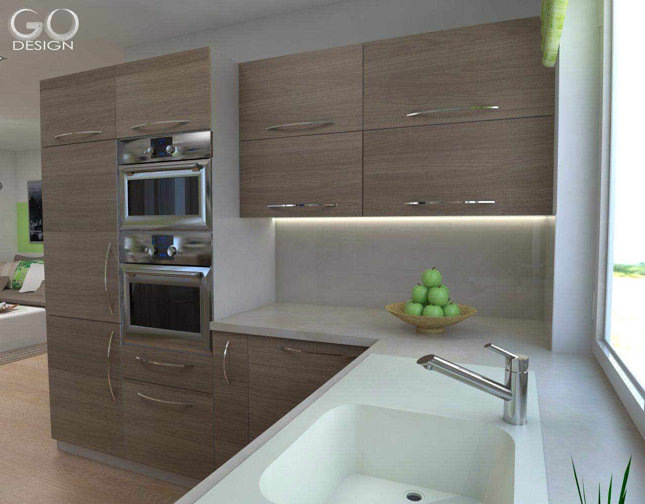 Rodinný domček so sviežim interiérom pre mladý pár - Viničné - Kuchyňa ponúka dostatok pracovného i úložného priestoru