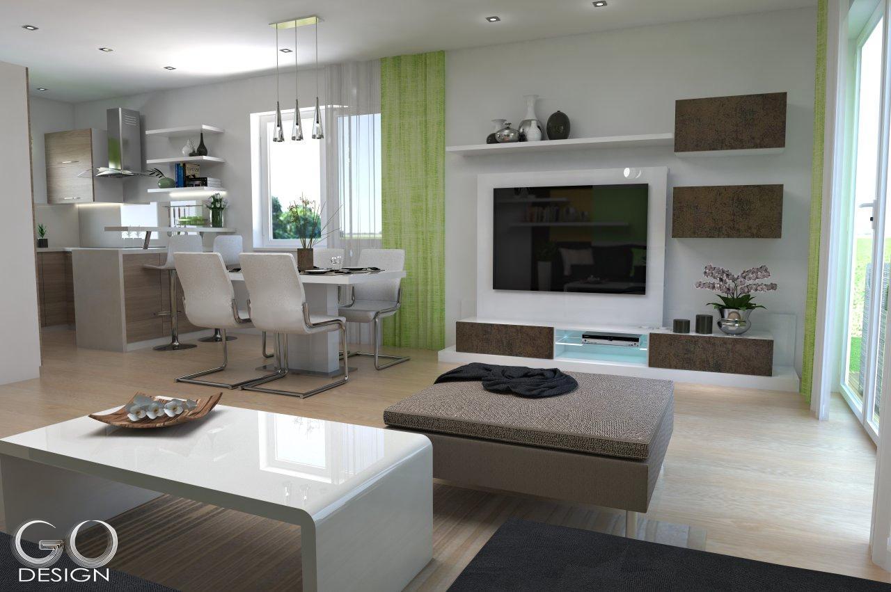 Rodinný domček so sviežim interiérom pre mladý pár - Viničné - Keď sa jasná zelená majiteľom časom zunuje, ľahko ju vymenia a interiér získa nový vzhľad