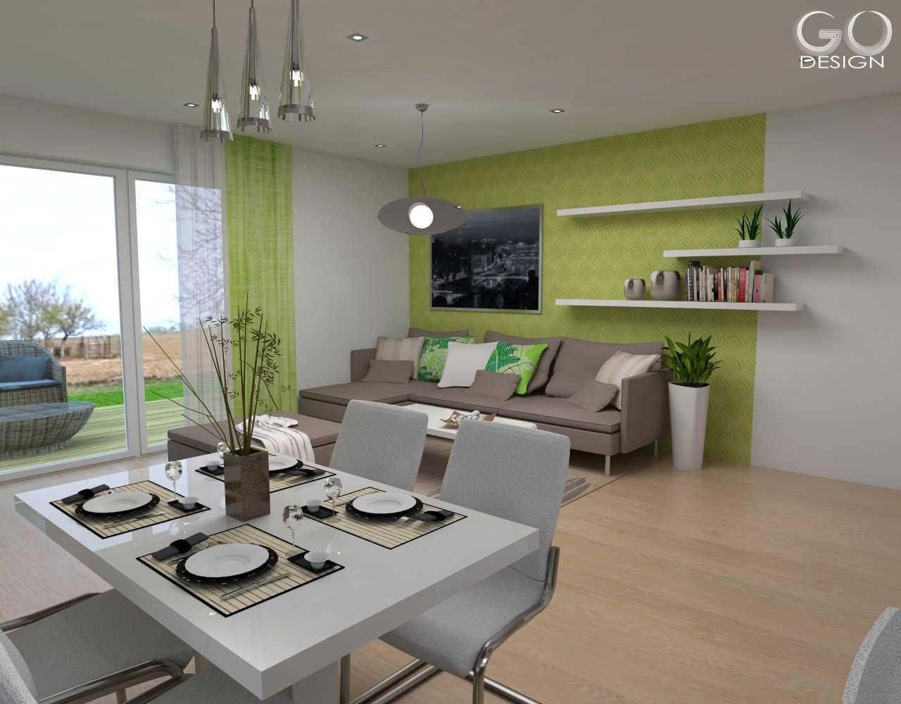Rodinný domček so sviežim interiérom pre mladý pár - Viničné - Ktorý variant steny sa páči vám?  Variant C