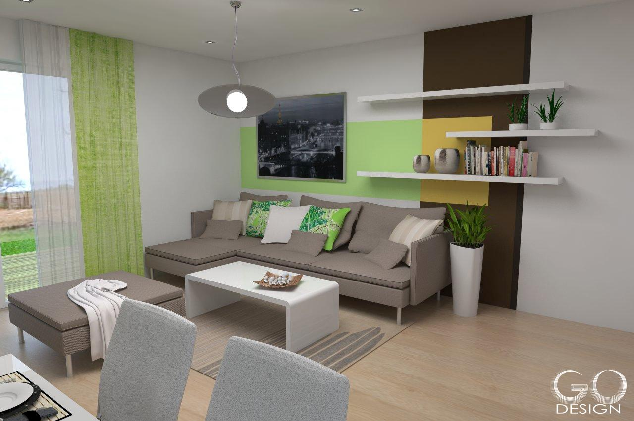 Rodinný domček so sviežim interiérom pre mladý pár - Viničné - Ktorý variant steny sa páči vám?  Variant B